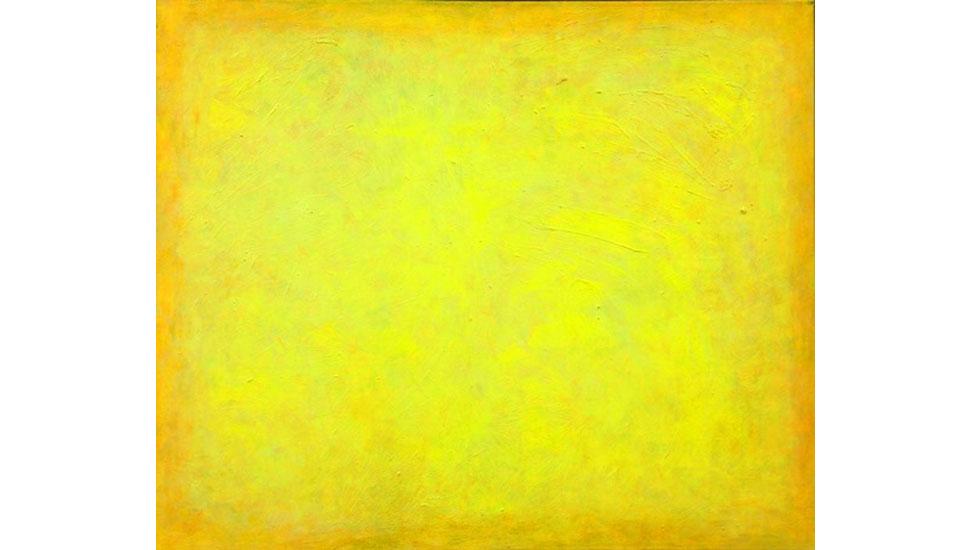 geel veld, 1994 100x120 cm, olieverf op linnen