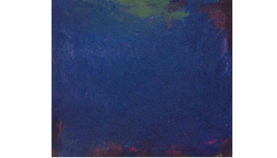 blauw veld, 1994 35x40 cm, olieverf op linnen