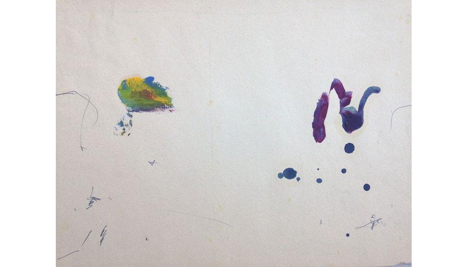 feel the need 1986 27 x 35 cm, olieverf op papier
