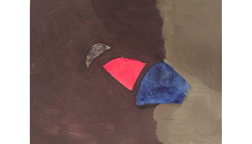 tussenruimtes tussen dimensies nr 3 2015 27x35 cm, gouache op papier