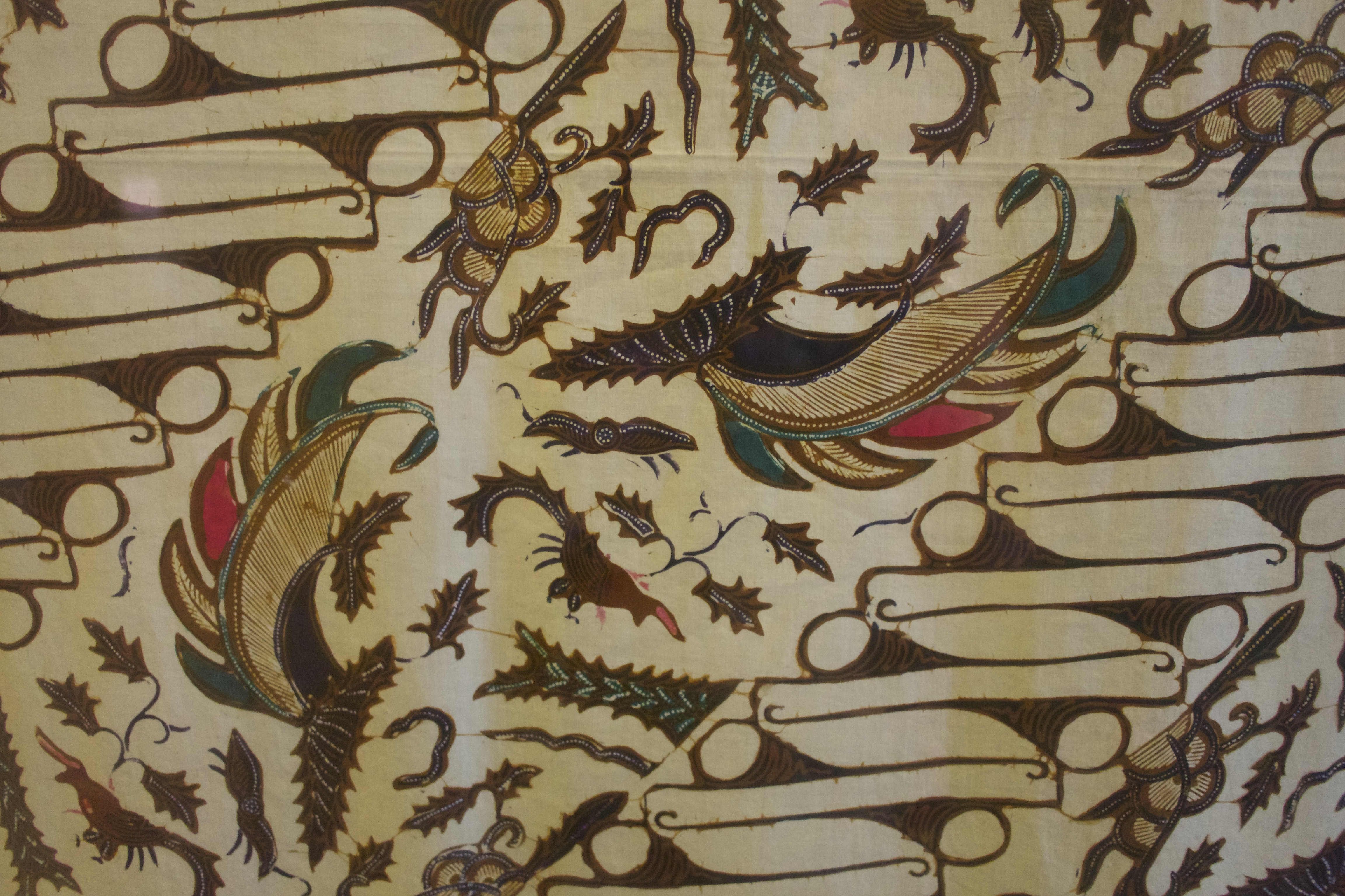 Batik verhoudingen kleur compositie